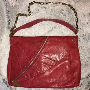 💯 Authentic Kooba Red Leather Crossbody
